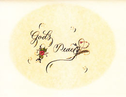 God's Peace Note Card